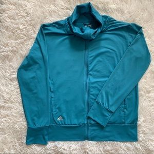 Adidas Cowl Neck Zip Up Jacket
